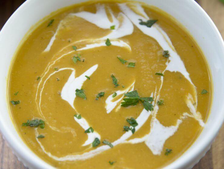 butternut squash soup, butternut squash and sweet potatoes soup