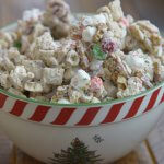 reindeer chow, Christmas snack, Christmas treat